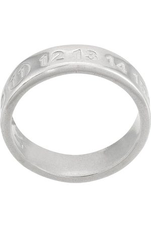 Maison Margiela Logo-embossed ring - Metallic