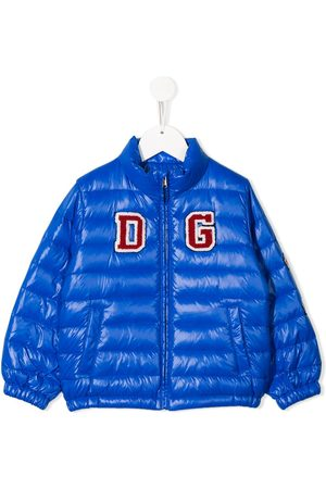 Dolce & Gabbana Logo patch down jacket