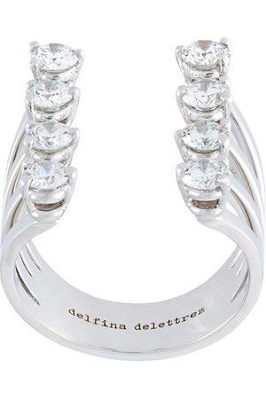DELFINA DELETTREZ Dots' diamond ring - Metallic