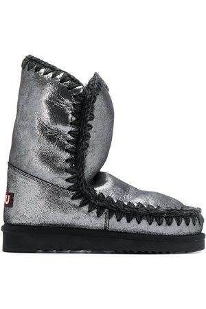 Mou Metallic snow boots - Grey