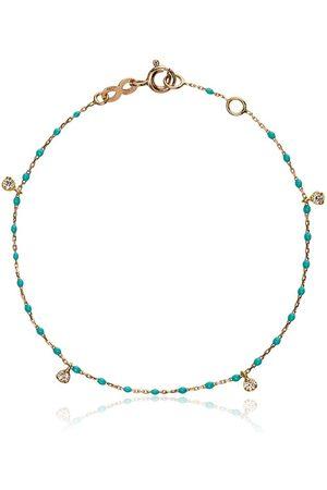 GIGI CLOZEAU Women Bracelets - 18k rose gold turquoise diamond bracelet