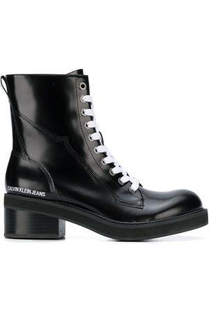Calvin Klein Block heel cargo boots
