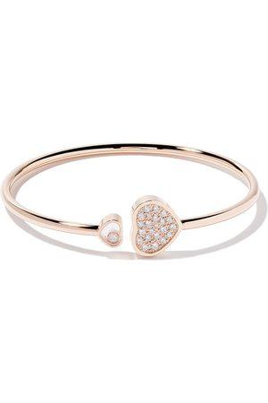 Chopard 18kt rose Happy Hearts diamond bangle