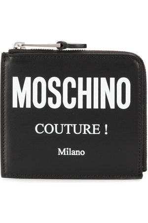 Moschino Couture logo zipped wallet