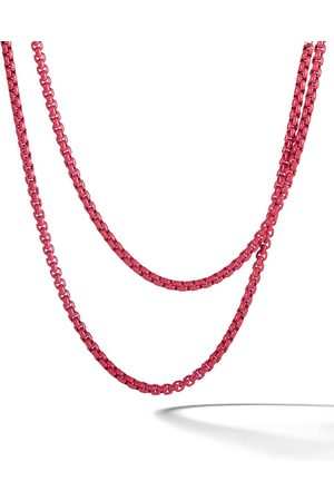 David Yurman 14kt rose gold accented DY Bel Aire chain necklace - LKCRL