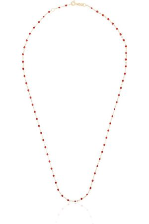 GIGI CLOZEAU 18kt yellow gold beaded necklace - 31