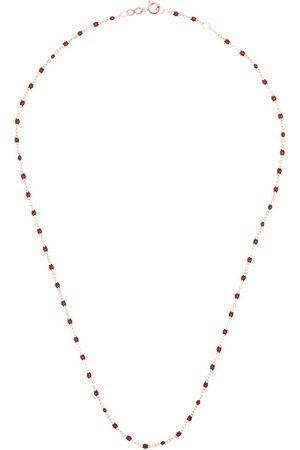 GIGI CLOZEAU 18kt rose gold beaded necklace - 41 BURGUNDY