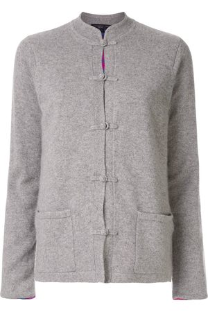SHANGHAI TANG Chinoiserie Tang-style cardigan - Grey
