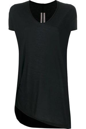 Rick Owens Short sleeve asymmetric hem T-shirt