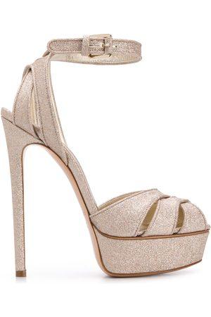 Casadei Glitter sandals - Metallic