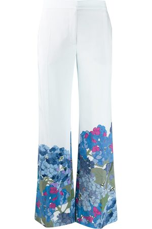 VALENTINO Macro Ortensia printed flared trousers