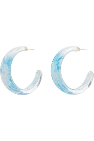 ALISON LOU Tie-dye jelly hoop earrings
