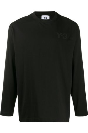 Y-3 Crew neck logo-print top