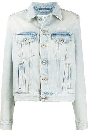 OFF-WHITE Bleached boxy denim jacket