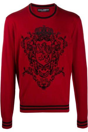 Dolce & Gabbana Heraldic motif knitted jumper
