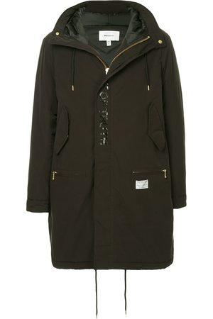 Makavelic Slogan-print parka coat