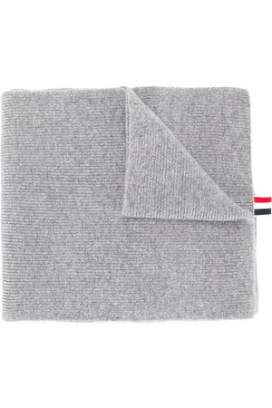 Thom Browne 4-Bar stripe scarf - Grey
