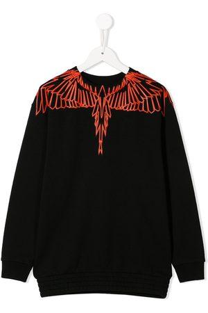 MARCELO BURLON Wing-print crew neck sweatshirt