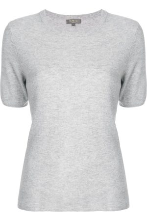 N.PEAL Cashmere round-neck T-shirt - Grey