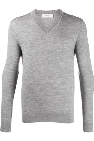 PRINGLE OF SCOTLAND V-neck fine knit jumper - Grey