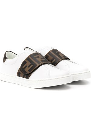 Fendi Monogram touch-strap sneakers