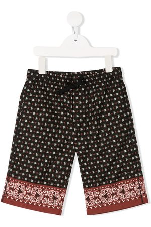 Dolce & Gabbana Kids Paisley drawstring shorts