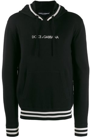 Dolce & Gabbana Men Hoodies - Logo drawstring hoodie
