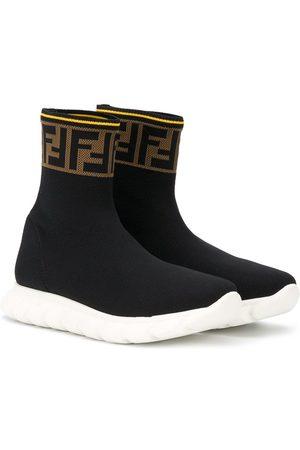 Fendi Kids FF slip-on sneakers