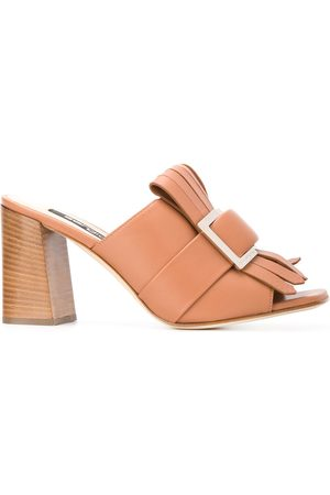 Sergio Rossi Fringed buckle-embellished sandals