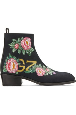 Giuseppe Zanotti Floral ankle boots