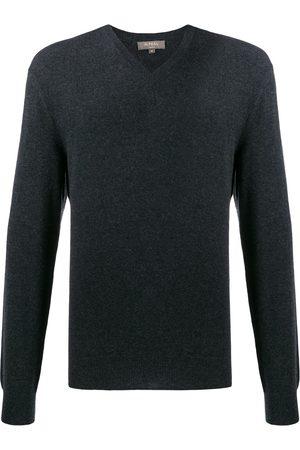 N.PEAL The Burlington V-neck jumper - Grey