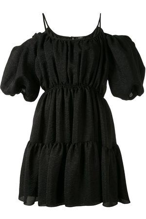 GOEN.J Balloon-sleeved tiered mini dress