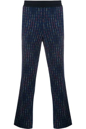 Missoni Men Straight Leg Pants - Embroidered straight-leg trousers