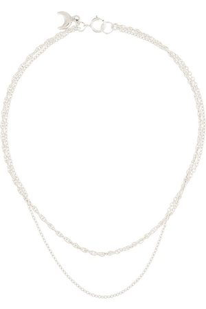 Petite Grand Moon pendant anklet - Metallic