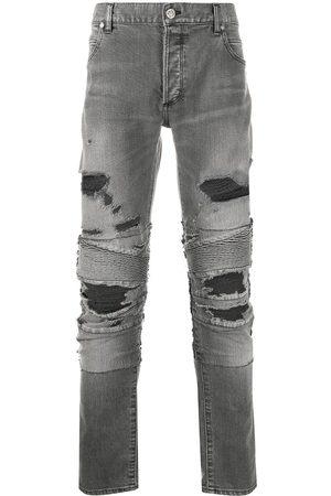 Balmain Men Skinny - Ripped biker jeans