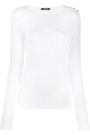 Balmain Button detail long-sleeve T-shirt