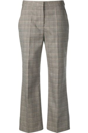 Stella McCartney Checked flare trousers