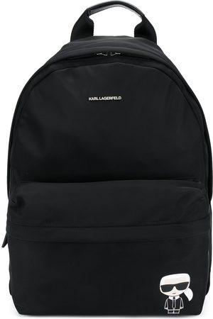 Karl Lagerfeld Karl icon print backpack