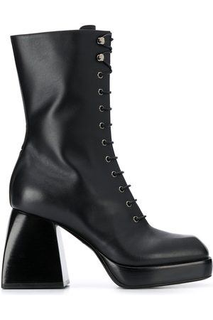 NODALETO Lace-up high heel boots
