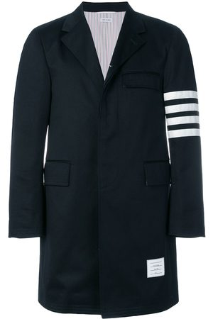 Thom Browne Men Coats - Unconstructed 4-Bar Stripe Classic Chesterfield Overcoat