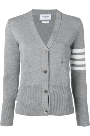 Thom Browne 4-Bar Milano stitch cardigan - Grey
