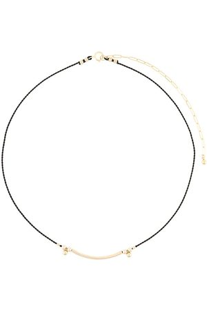 Petite Grand Two-tone bar cord necklace
