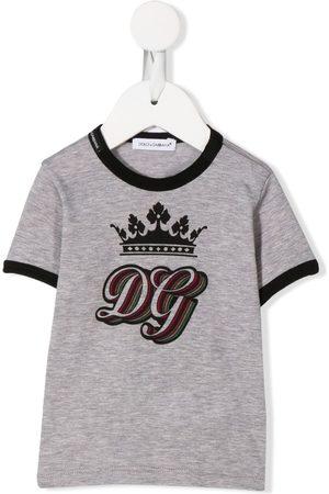 Dolce & Gabbana DG Royal print T-shirt - Grey