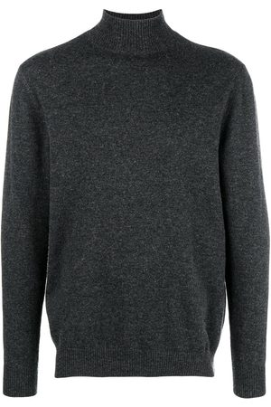 N.PEAL Men Sweaters - Turtle neck jumper - Grey