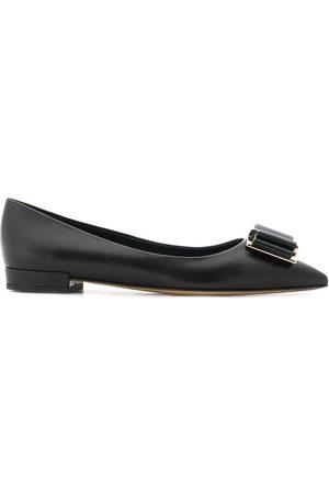 Salvatore Ferragamo Appliqué ballerina shoes