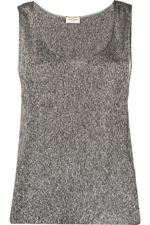 Saint Laurent Metallic sleeveless top - Grey