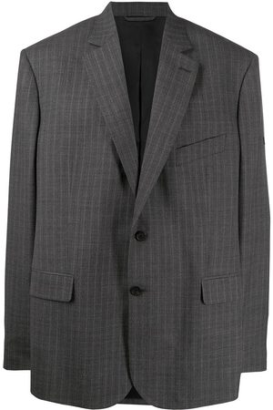 Balenciaga Washed pinstriped blazer - Grey