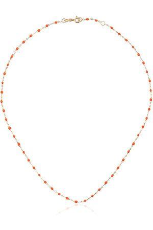 GIGI CLOZEAU 18k gold orange beaded necklace
