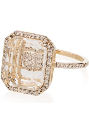 Mateo 14kt yellow heart framed diamond ring