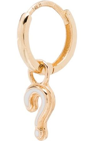 ALISON LOU 14kt Question Huggy hoop earring